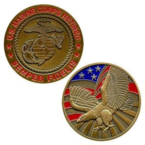 US Marine Corps Retired Semper Fidelis Coin