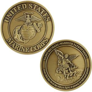 United States Marine Corps Saint Michael Warrior Coin