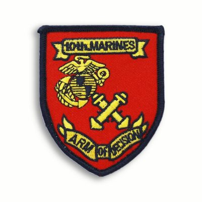 Red and Black 10th Marine Regiment Patch