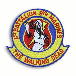 Color Patch of First Battalion 9th Marines The Walking Dead