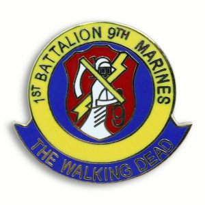 Color Pin for First Battalion 9th Marines The Walking Dead