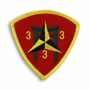 Red and Yellow 3rd Battalion 3rd Marines Triangle Patch