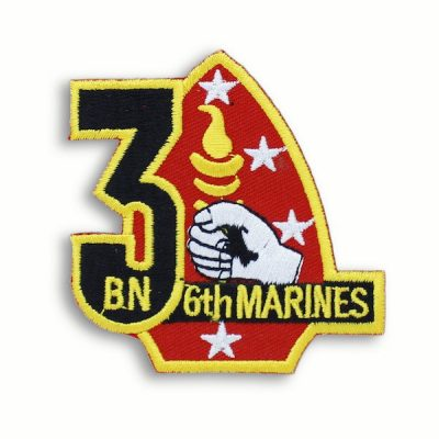 Red and Yellow 3rd Battalion 6th Marines Patch