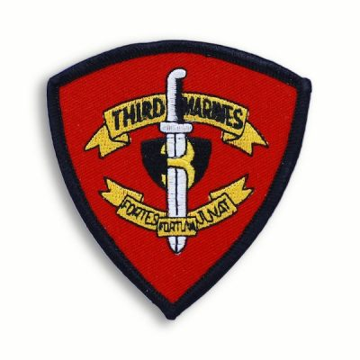 Red and Black 3rd Marine Regiment Patch