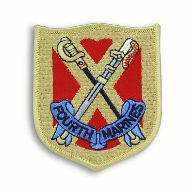 Oldest and Proudest 4th Marine Regiment Shield Patch