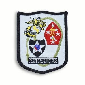 White 6th Marines Regiment Shield Patch
