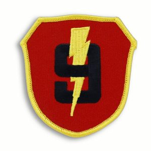Red and Yellow 9th Marine Regiment Shield Patch