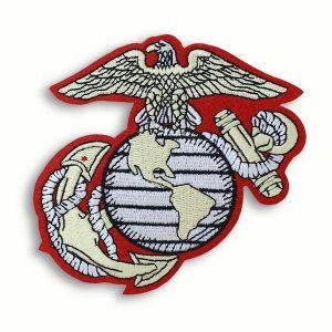 Red and White Eagle Globe and Anchor Patch