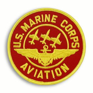 US Marine Corps Aviation Red and Yellow Round Patch