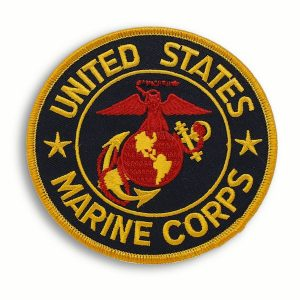 Black and Gold Round Patch United States Marine Corps