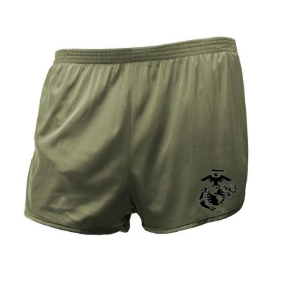 usmc pt silky shorts with eagle globe and anchor
