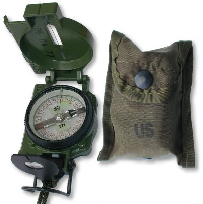 Military night Compass with pouch