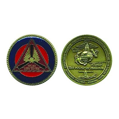 Marine corps air station new river challenge coin