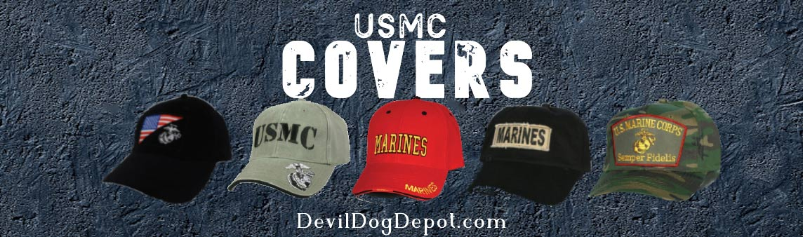 Selection of marine corps covers and usmc hats
