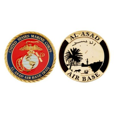 usmc challenge coin al asad base iraq
