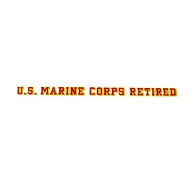 US Marine Corps Retired 25 inch Decal