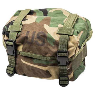 US military woodland camo butt pack