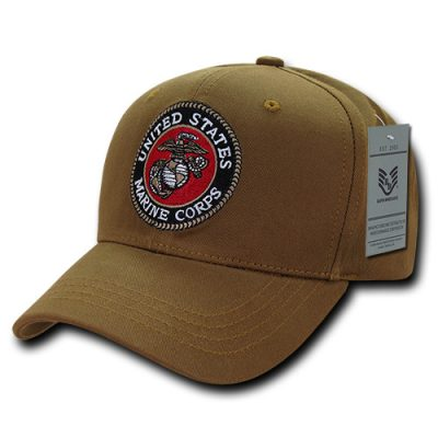 USMC Embroidered Seal Coyote Cap
