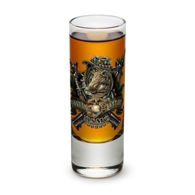 USMC First In Last Out Shot Glass