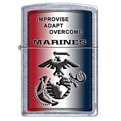 USMC Improvise Adapt Overcome Zippo Lighter
