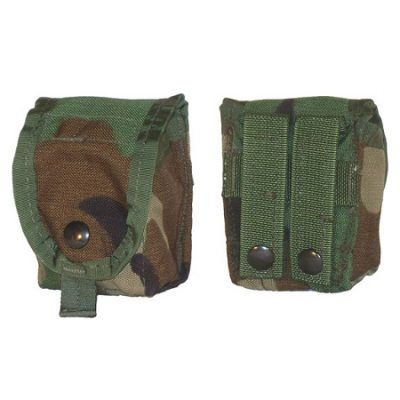 Govt Issue MOLLE Woodland Grenade Pouch