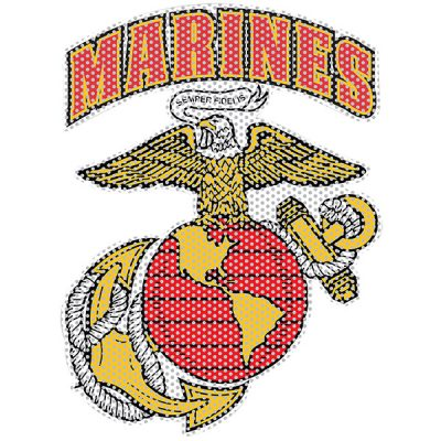 MARINES Eagle Globe & Anchor Perforated Window Cling