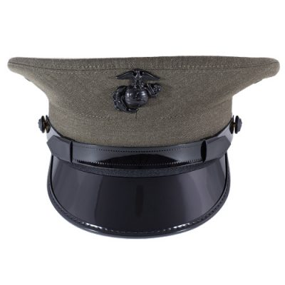 Marine Corp Service Cap Device Enlisted Black
