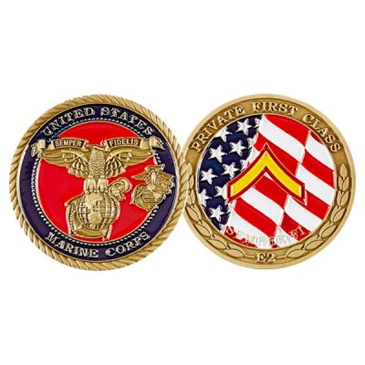 USMC Private First Class Coin