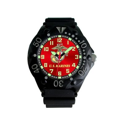 U.S. Marines Red Dial Dive Watch