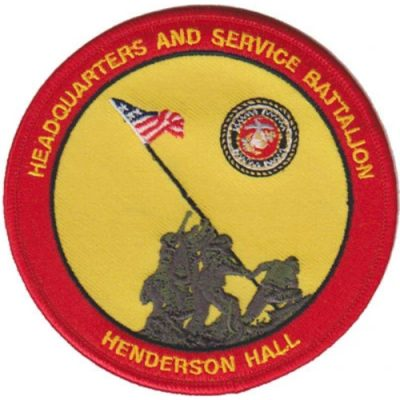 USMC Headquarters and Service Bn Henderson Hall Patch